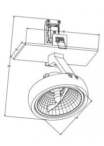 INTERIOR LAMP (SPOT) ZUMA LINE GINO DL1 20005-BK (black) small 1