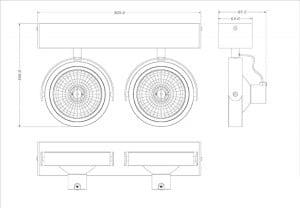 INTERIOR LAMP (SPOT) ZUMA LINE GO SL2 SPOT 50485 (black) small 1