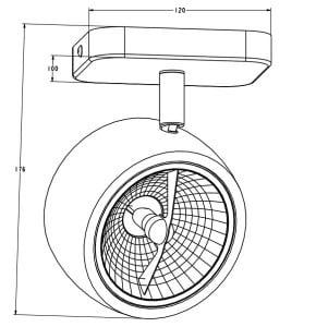 INTERIOR LAMP (KINKIET) ZUMA LINE LOMO SL 1 20003-WH (white) small 1