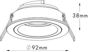INTERIOR LAMP (SPOT) ZUMA LINE CHUCK DL ROUND 92702 (black / gold) small 1