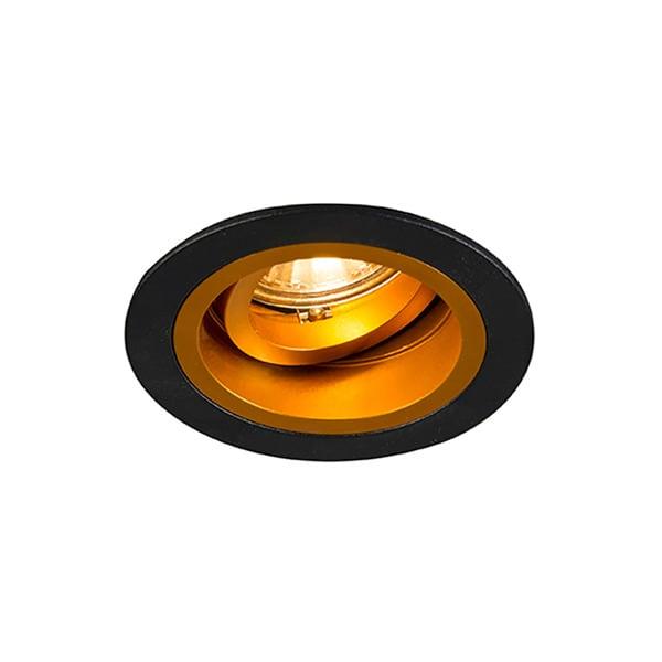 INTERIOR LAMP (SPOT) ZUMA LINE CHUCK DL ROUND 92702 (black / gold)