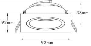 LAMPA WEWNĘTRZNA (SPOT) ZUMA LINE CHUCK DL SQUARE 92703 BIAŁY / WHITE small 1