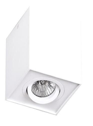 Basic Square White surface-mounted luminaire