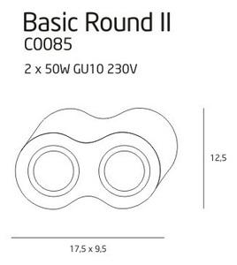 BASIC ROUND II WH halogen luminaire small 1