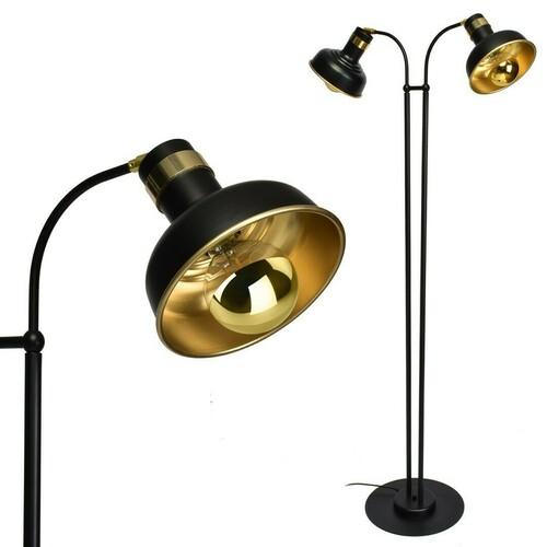 Black Floor Lamp Margo Black / Gold 2x E27