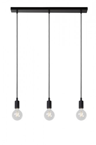 Industrial hanging lamp lucide FIX black