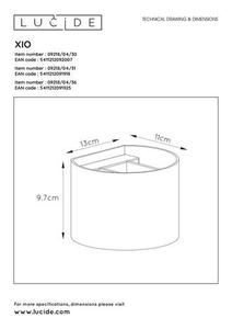 Wall lamp with adjustable light beam angle XIO 09218/04/30 small 6