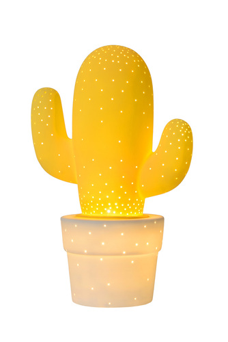 Decorative table lamp CACTUS yellow