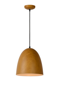 WOODY pendant lamp in light wood color small 0