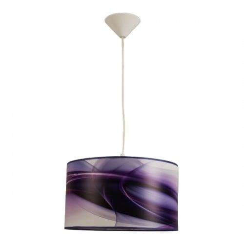 Lampa wisząca JUNG fioletowa
