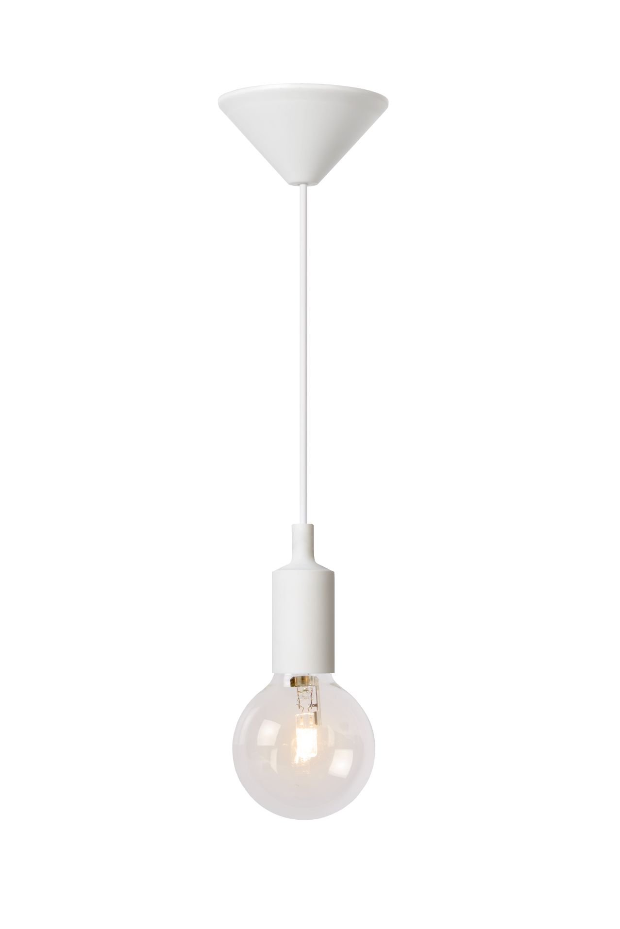 Hanging lamp FIXI ONE white cable E27