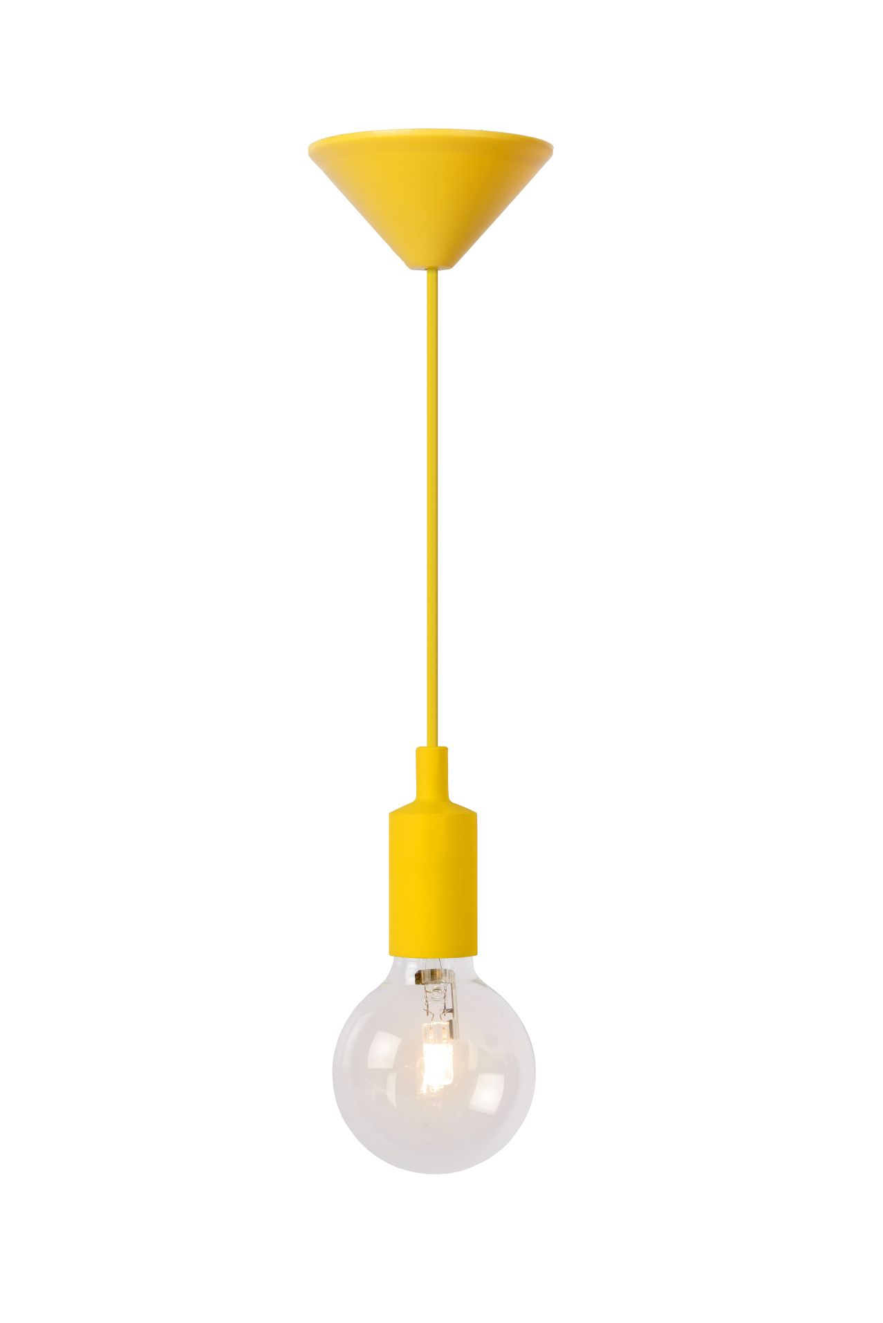 Hanging lamp FIXI ONE yellow cable E27