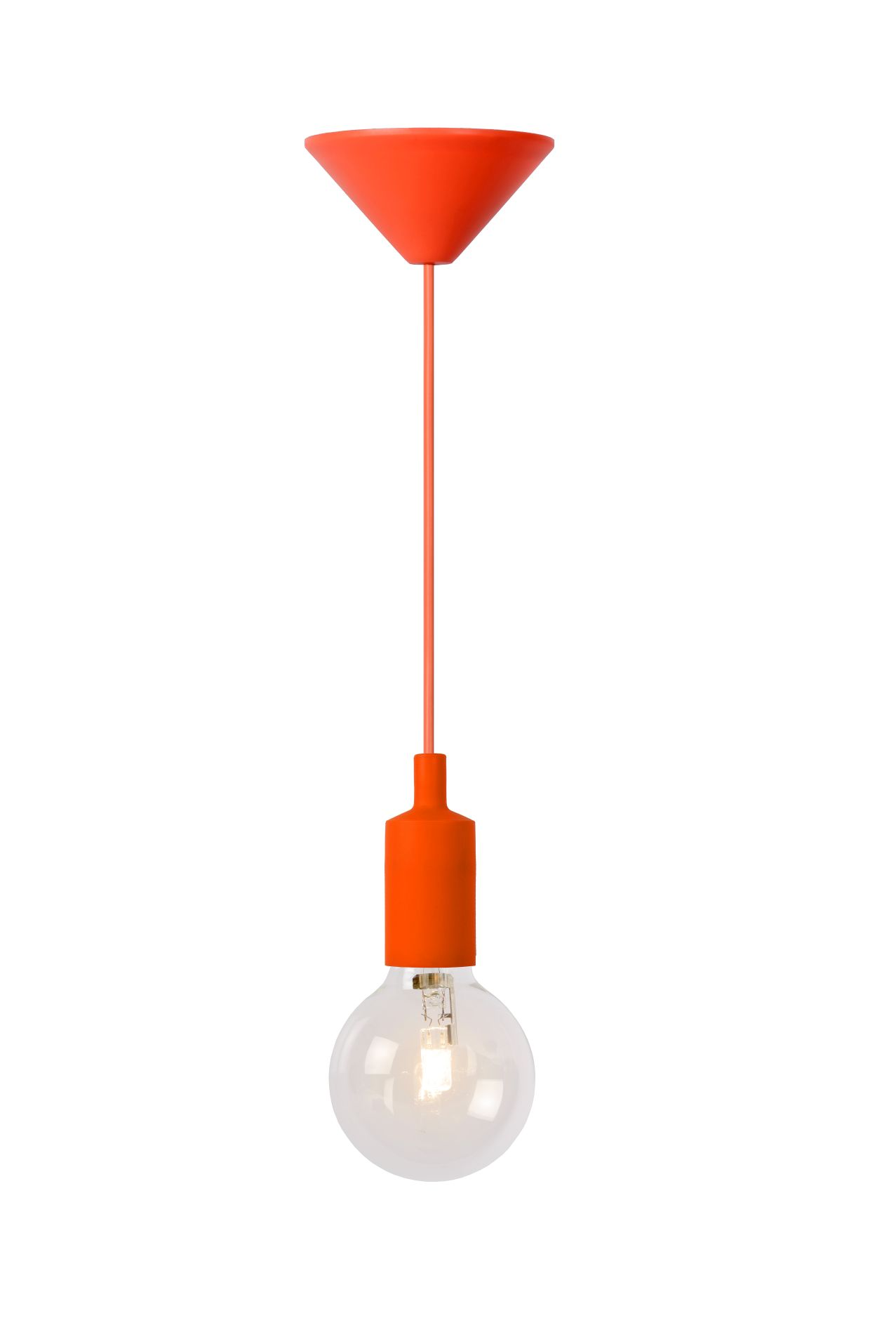 Hanging lamp FIXI ONE orange cable E27