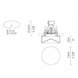 Eyelet Fabbian Faretti Blow D27 F18 halogen luminaire GU5,3 small 2