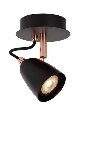 Wall lamp RODE black copper GU10