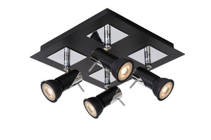 Ceiling four-point ceiling BLACKX square black LED small 0