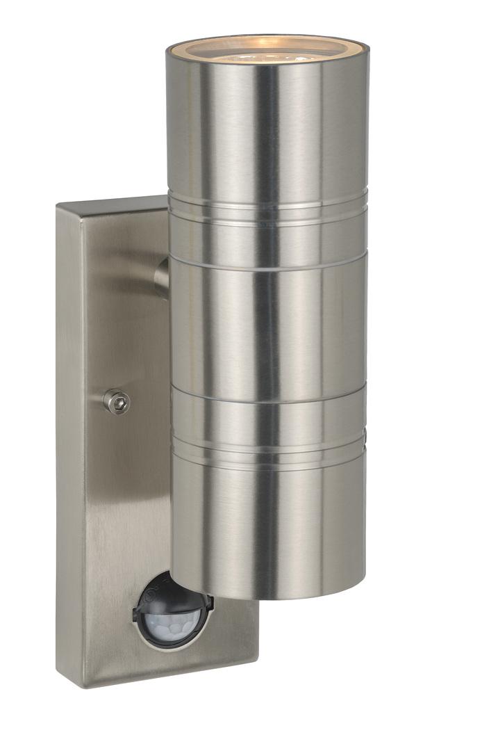 Outdoor wall lamp with motion sensor, satin chrome ARNE-LED 14866/10/12