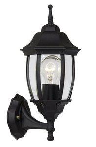 Outdoor wall light TRENO G black aluminum E27 small 0