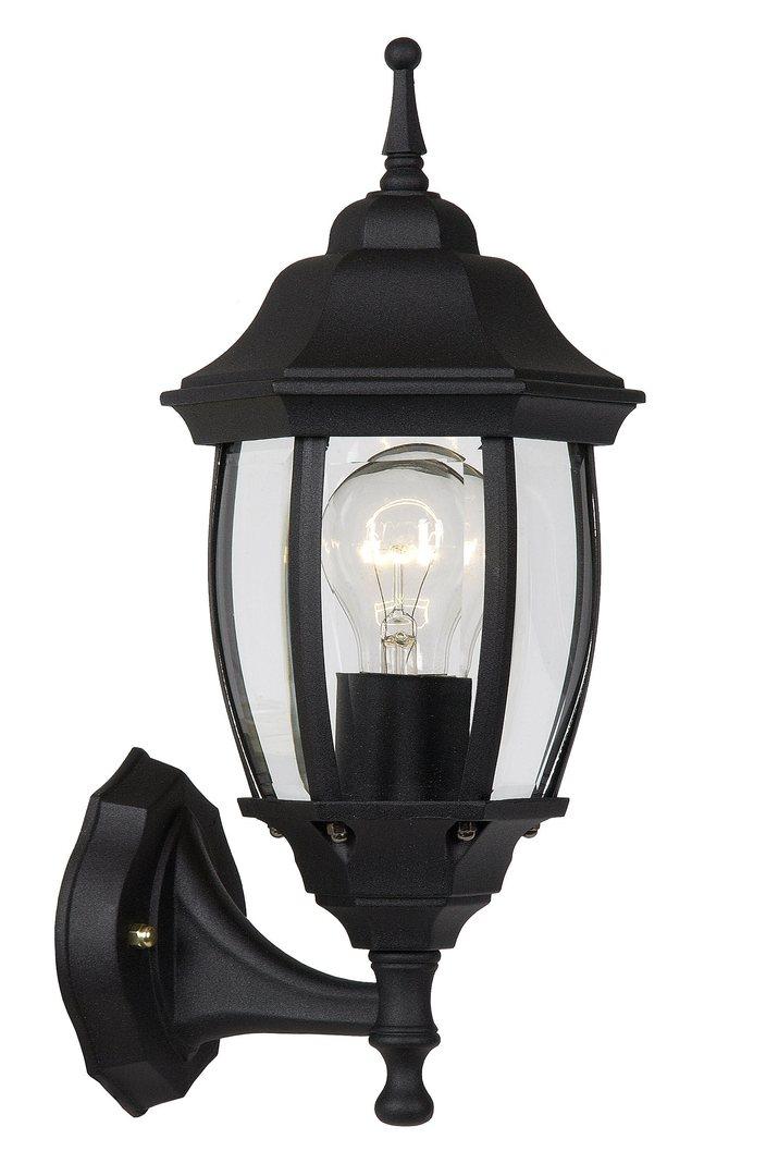 Outdoor wall light TRENO G black aluminum E27