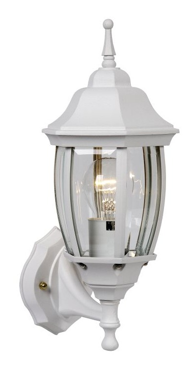 Outdoor wall light TRENO G white aluminum E27