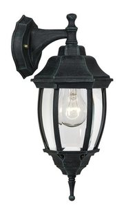 Outdoor wall light TRENO D black green E27 small 0