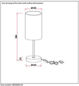 Table lamp MODNA white E27 small 1