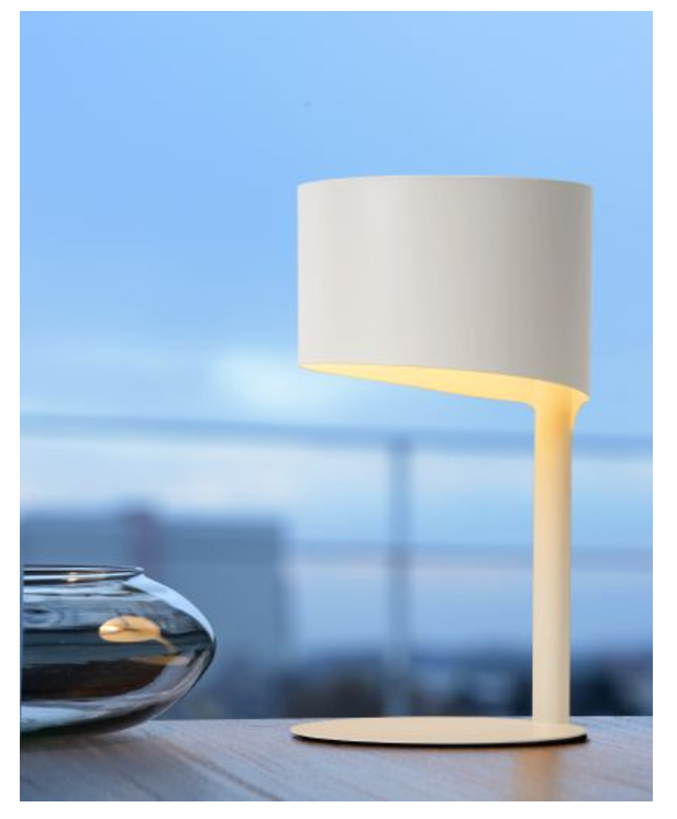 KNULLE table lamp Ø 15,5 cm white
