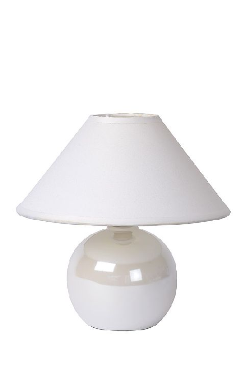 Table lamp FADO white gloss E14