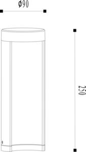 Outdoor lighting pole COMBO Led black 25cm small 1