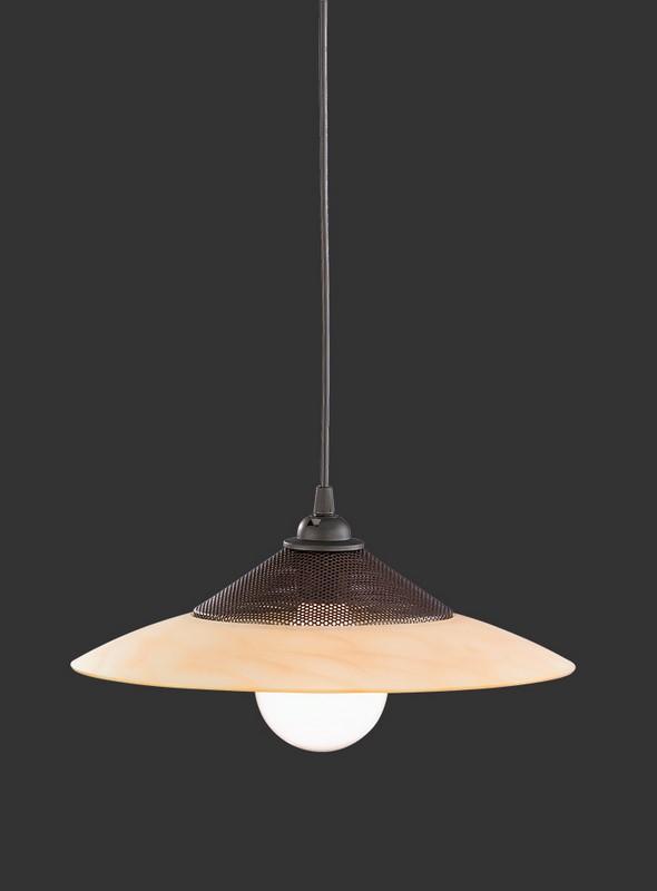 Hanging lamp SOFI amber anthracite E27