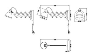 Adjustable wall lamp SCISSOR R20321078 small 1