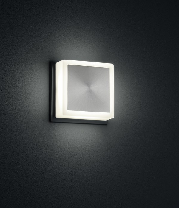 Wall light FIXI SQUARE black LED