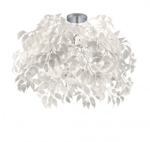 LEAVY CEILING LIGHT white leaves