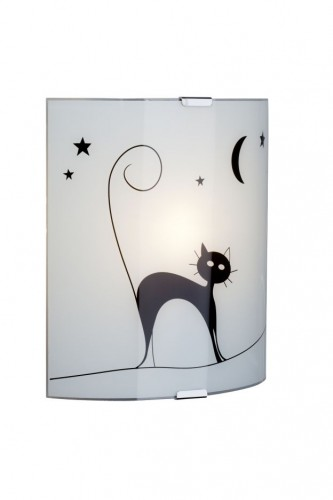 CAT White wall lamp with a cat