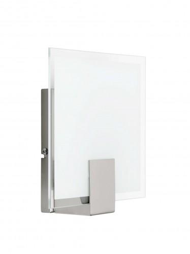 SONIAN Kinkiet biały / chrom (square)