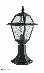 A small garden lamp with a stained-glass window (47 cm) - K 4011/1 / N small 2