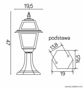 A small garden lamp with a stained-glass window (47 cm) - K 4011/1 / N small 7