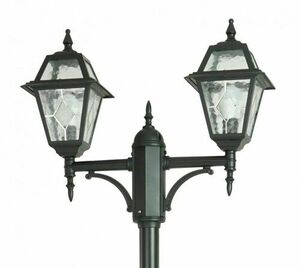 2-point adjustable garden lantern with a stained glass window (185 - 285 cm) - OGMWN 2 N small 1
