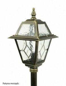 Small garden lantern with stained glass (110cm) - K 5002/2 N small 6