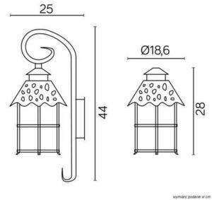 Toledo K 3012/1 / R outdoor wall lamp small 5