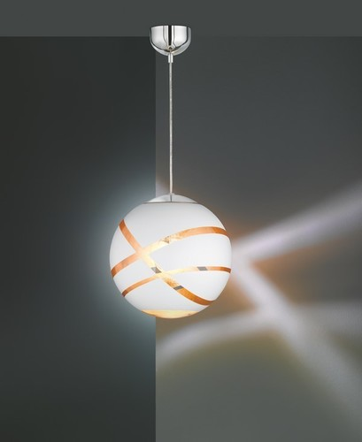 Hanging lamp GLOBE WHITE matt white E27