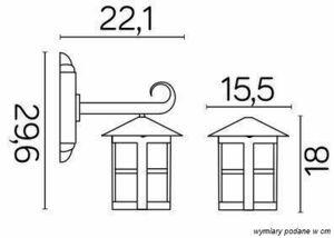 External wall lamp Cordoba K 3012/1 / T small 5