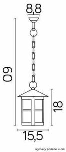 Cordoba K 1018/1 / T outdoor hanging lamp small 2