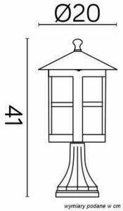Latarenka stojąca ogrodowa w witrażem (23cm) - Cordoba II K 4011/1 / TD small 4