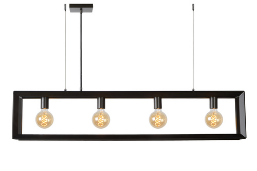 Hanging lamp THUNDER CUBE four-point gray iron E27