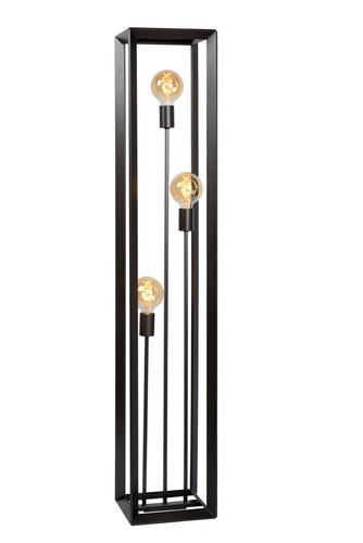 Three-point floor lamp THUNDER iron E27