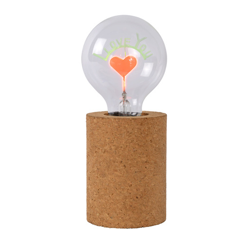 CORK table lamp heart E27 lettering