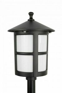 Garden lamp on a low post with a stained glass (71 cm) - Cordoba II K 5002/3 / TD small 1