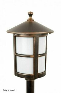 Garden lamp on a low post with a stained glass (71 cm) - Cordoba II K 5002/3 / TD small 6