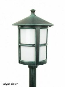 Garden lamp on a low post with a stained glass (71 cm) - Cordoba II K 5002/3 / TD small 8